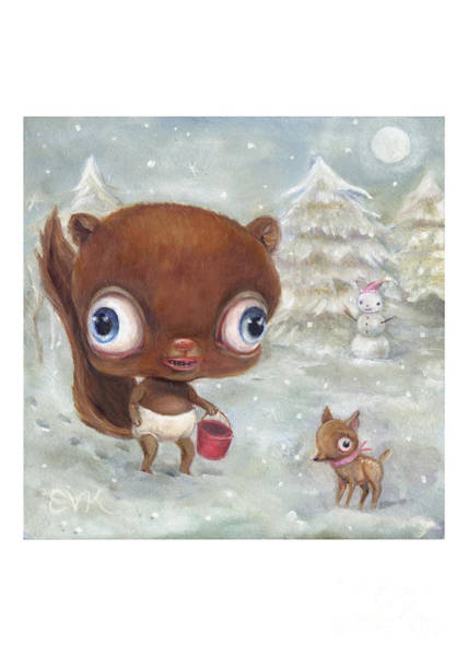 Painting - Lunchbox Lost At The North Pole by Vicky Knowles