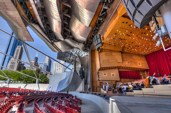 Chicago Symphony Orchestra Photograph - Lunchtime Rehearsal At Pritzker Pavilion  by Carl Larson