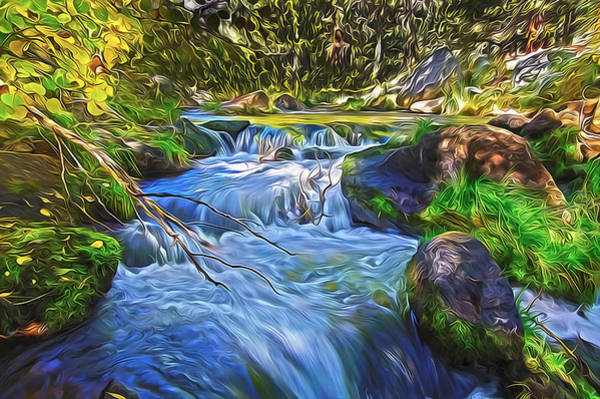 Digital Art - Lundy Creek Flow by Frank Lee Hawkins