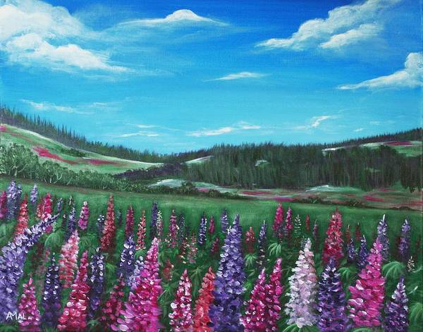 Painting - Lupine Hills by Anastasiya Malakhova