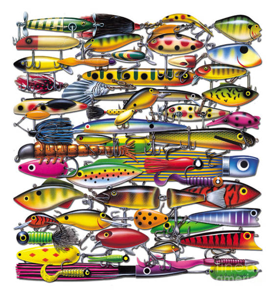 Painting - Lures by JQ Licensing