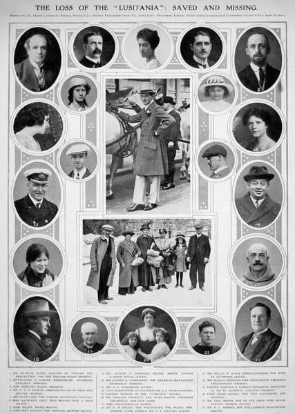Photograph - Lusitania Passengers by Granger