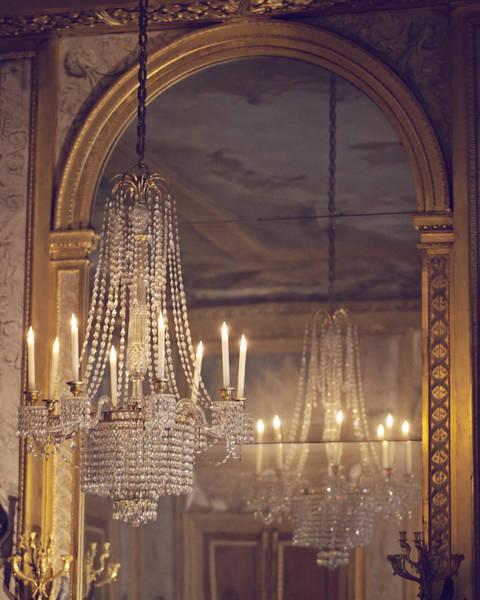 Chandelier Photograph - Lustre De Fontainebleau - Paris Chandelier by Melanie Alexandra Price