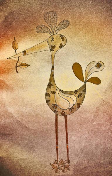 Lutgarde's Bird - 05t2c Art Print