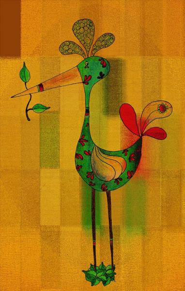 Lutgarde's Bird - 061109106-wyel Art Print