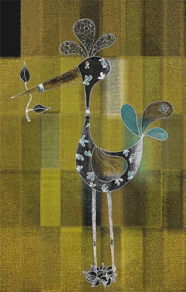 Lutgarde's Bird - 061109106gb Art Print