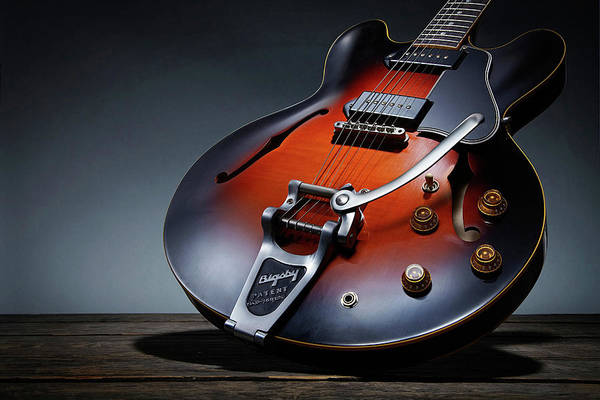 Guitarist Photograph - Luther Dickinson Signature Gibson by Guitarist Magazine