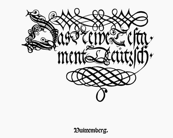 Wall Art - Painting - Lutheran Bible, 1522 by Granger