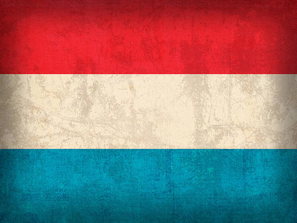 Nation Mixed Media - Luxembourg Flag Vintage Distressed Finish by Design Turnpike
