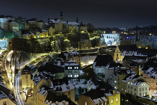 Collin Photograph - Luxembourg Old City View At Night Under by © Frédéric Collin
