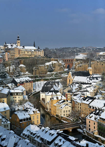 Collin Photograph - Luxembourg Under Snow by © Frédéric Collin