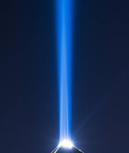 Photograph - Luxor Sky Beam by Nicholas Blackwell