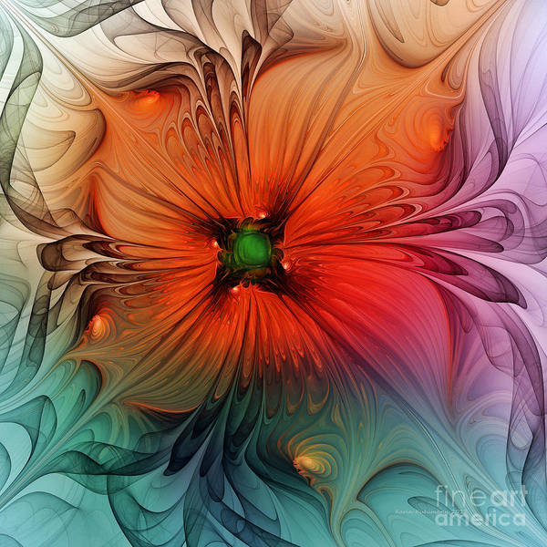 Translucent Digital Art - Luxury Blossom Dressed In Velvet And Silk by Karin Kuhlmann