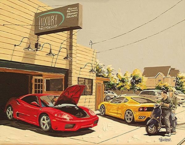 Luxury Motor Cars Art Print by Paul Guyer