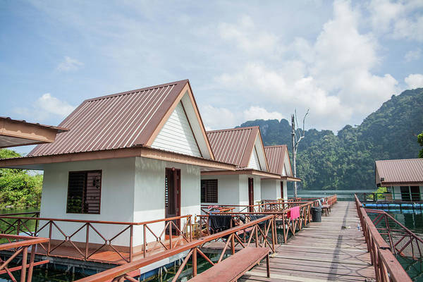 Luxury Raft Houses On Chieow Laan Lake Art Print