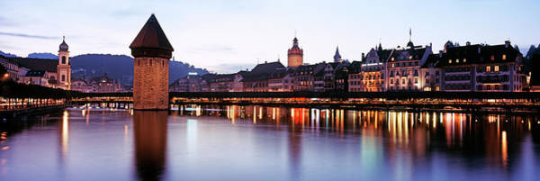Chapel Bridge Photograph - Luzern, Switzerland by Murat Taner