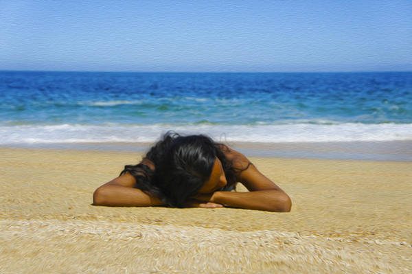 Wall Art - Photograph - Lying On The Beach by Aged Pixel