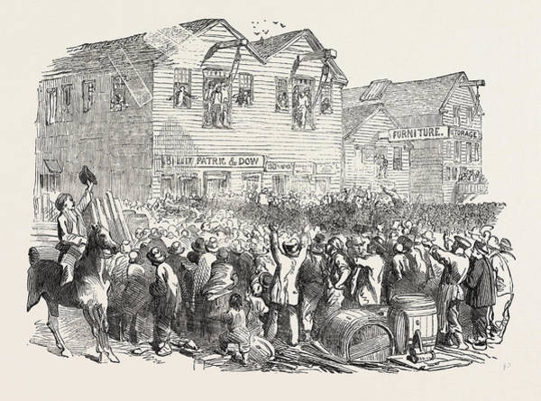 Early American History Drawing - Lynching In San Francisco by American School