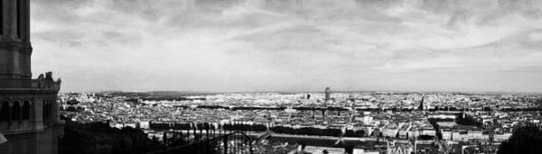 Photograph - Lyon From The Basilique De Fourviere-bw by Paulette B Wright