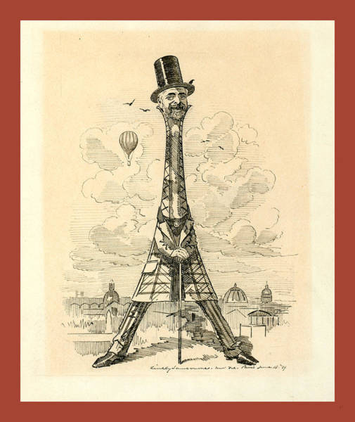 Wall Art - Photograph - M. Eiffel, Our Artists Latest Tour De Force by Sambourne, Linley Edward (1844-1910), English