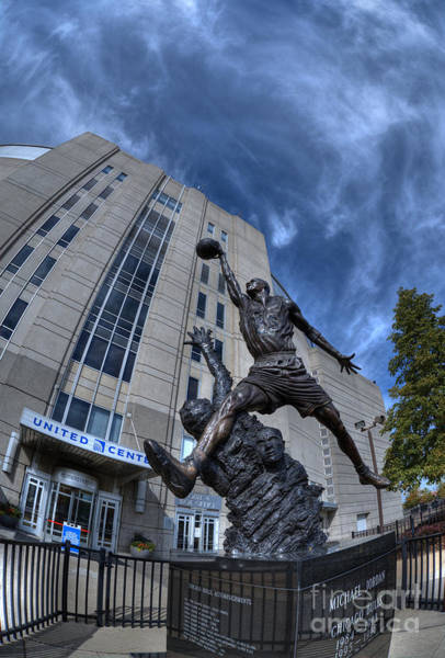 Chicago Bulls Photograph - M J by David Bearden