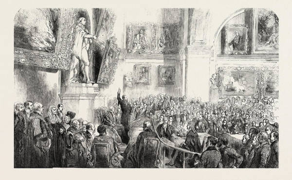 Wall Art - Drawing - M. Kossuth Addressing The Court Of Common Council by English School