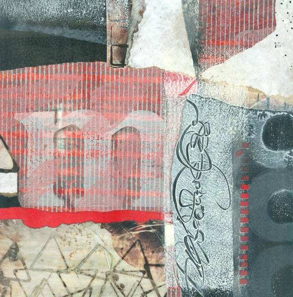 Triangle Mixed Media - M by Laura  Lein-Svencner