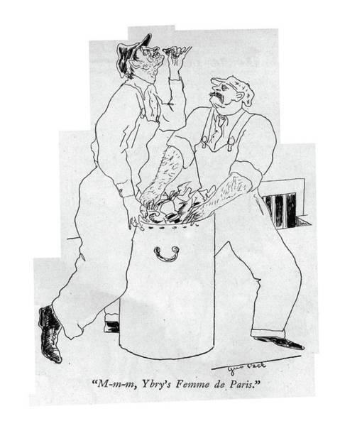 Peck Wall Art - Drawing - M-m-m, Ybry's Femme De Paris by Augustus Peck