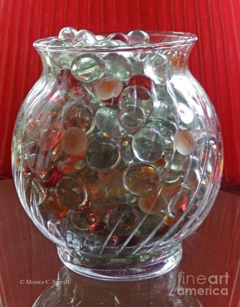 Photograph - M Still Life Collection Glass Bead Glass Jar No. Slc29 by Monica C Stovall