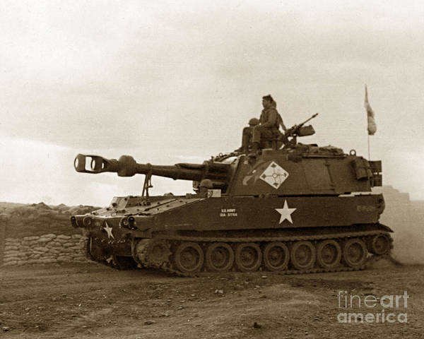 Photograph - M109 Self-propelled 155mm Howitzer Vietnam 1968 by California Views Archives Mr Pat Hathaway Archives