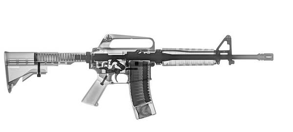 Assault Rifle Wall Art - Photograph - M4 (m16a2) Assault Rifle Under X-ray by Photostock-israel/science Photo Library