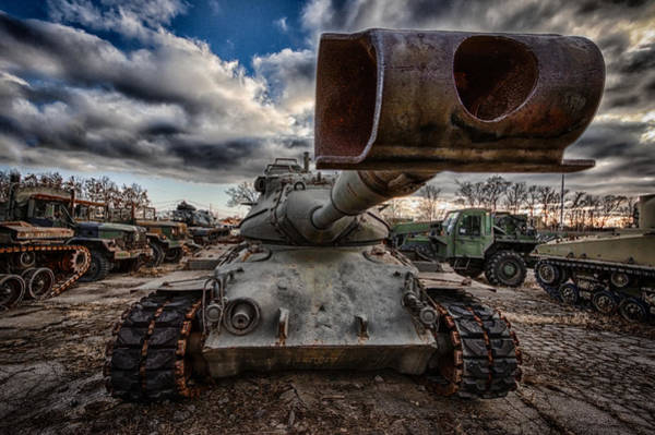 Wall Art - Photograph - M47 Tank by Mike Burgquist
