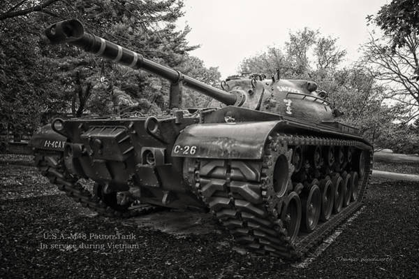 Wall Art - Photograph - M48 Patton Tank Front View by Thomas Woolworth