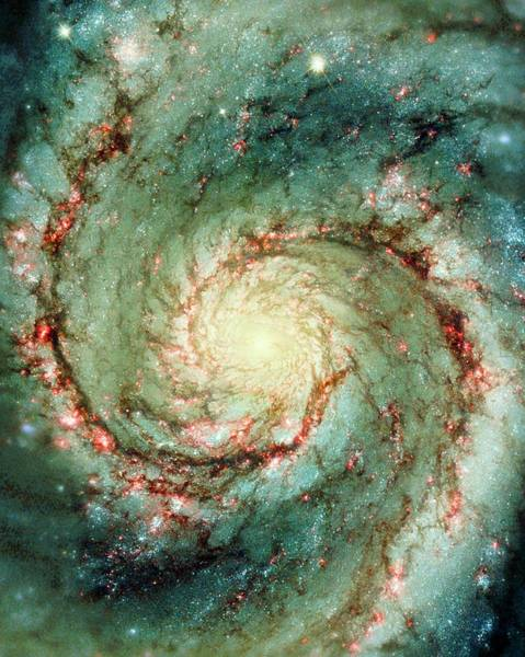 Wall Art - Photograph - M51 Whirlpool Galaxy by Nasaesastscihubble Heritage Team