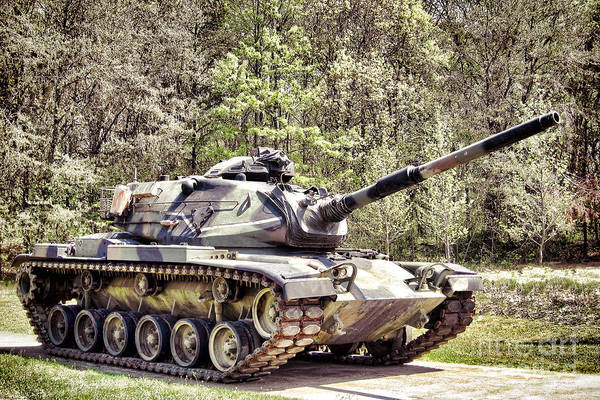 Wall Art - Photograph - M60 Patton Tank by Olivier Le Queinec