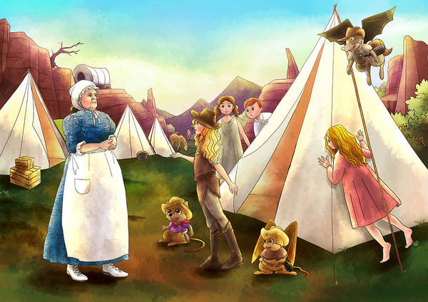 Painting - Ma Parker And The Children by Reynold Jay