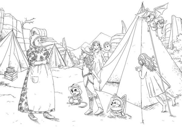 Drawing - Ma Parker And The Orphans by Reynold Jay