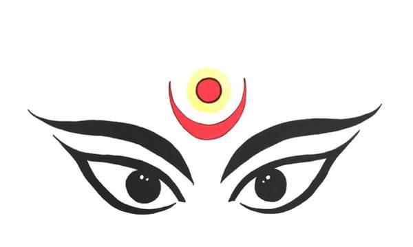 Hindu Goddess Drawing - Maa Kali IIi by Kruti Shah