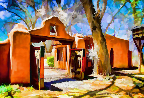 Digital Art - Mabel's Gate As Oil Painting by Charles Muhle