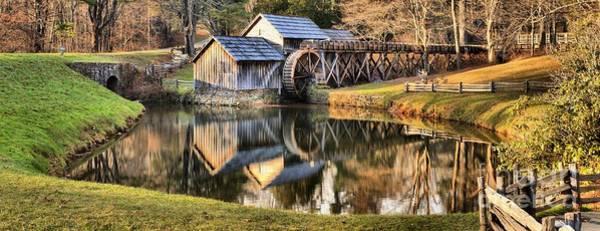 Photograph - Mabry Grist Mill Panorama by Adam Jewell