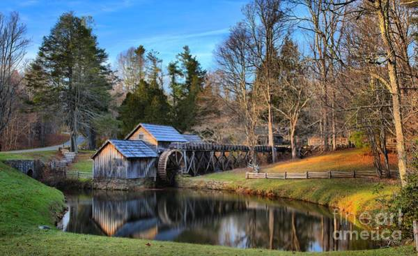 Photograph - Mabry Grist Mill Sunset by Adam Jewell