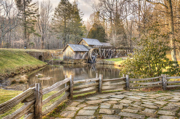 Photograph - Mabry Mill - Blue Ridge Parkway - Dan Virginia by Gregory Ballos