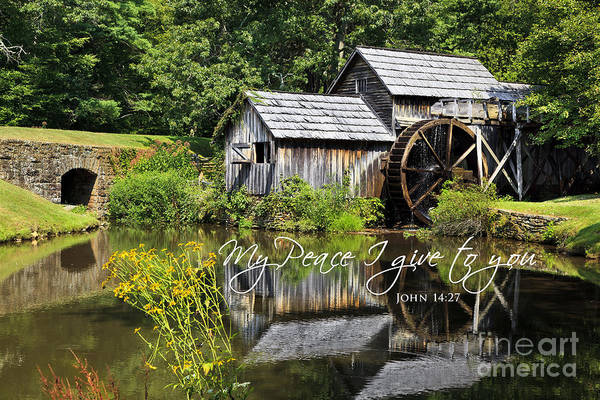 Photograph - Mabry Mill With Scripture by Jill Lang