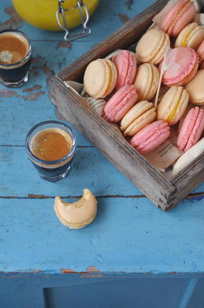 Drinking Glass Photograph - Macarons by Photos By Irina Meliukh