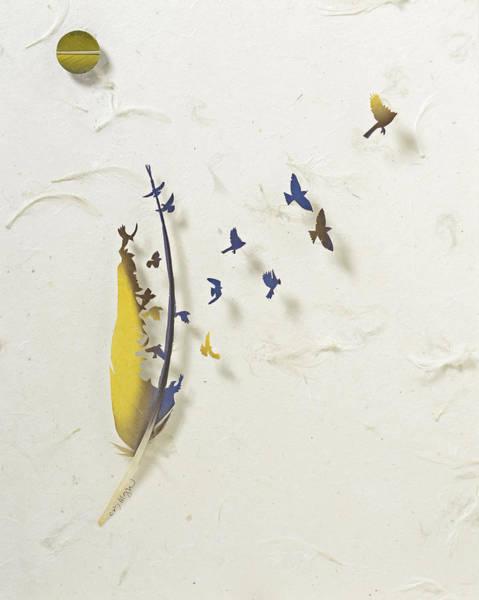Wall Art - Mixed Media - Macaw Dance 5 by Chris Maynard
