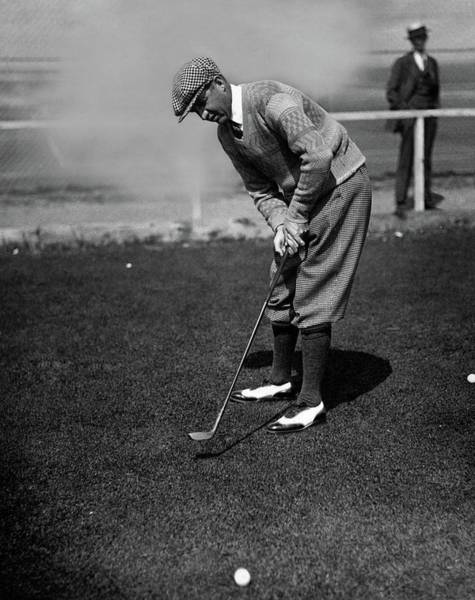 Old People Photograph - Macdonald Smith Playing Golf by Fotograms