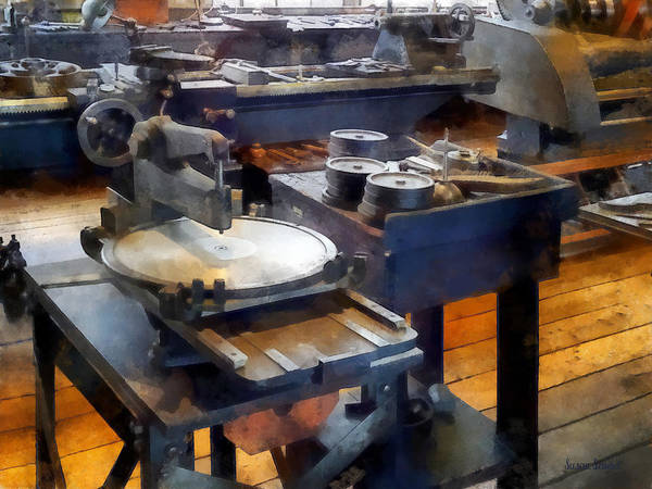 Photograph - Machine Shop With Punch Press by Susan Savad