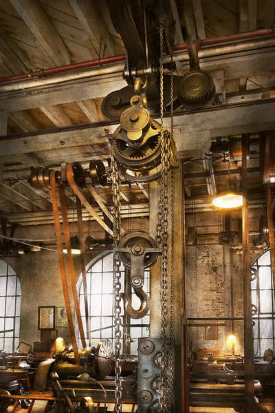 Photograph - Machinist - In The Age Of Industry by Mike Savad