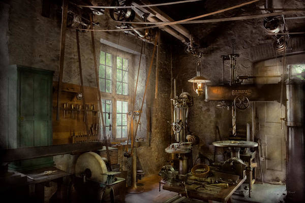 Photograph - Machinist - Industrial Revolution by Mike Savad