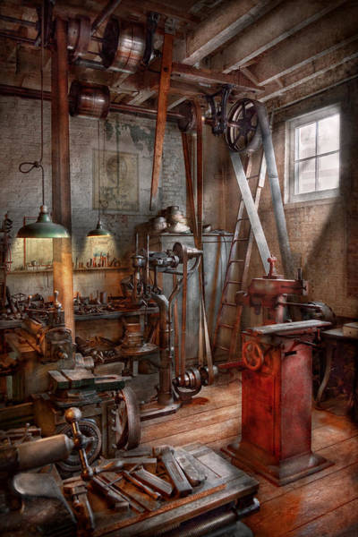 Photograph - Machinist - The Modern Workshop  by Mike Savad